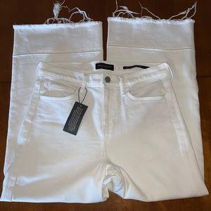 Banana Republic High-Rise Wide-Leg Jeans White 26S